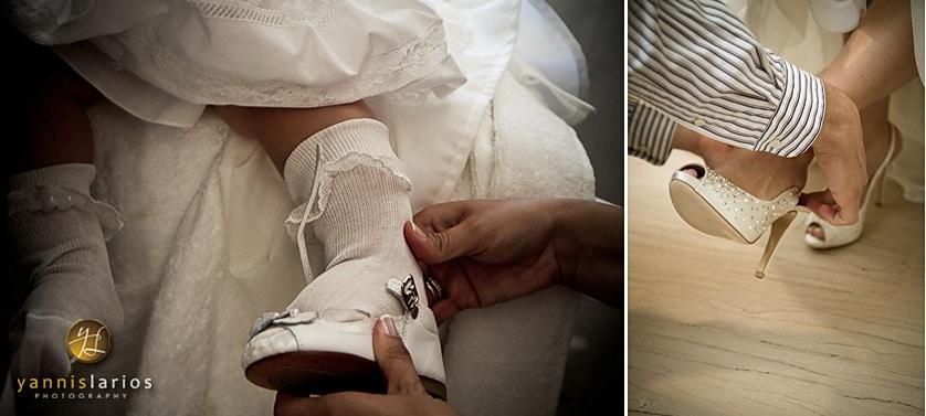 Wedding Photographer Greece i. Φωτογράφιση γάμου  shoes