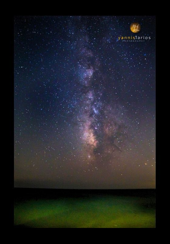 "Wedding Photorgapher Greece yannis-larios-destination-photographer-greece- Ο γαλαξίας πάνω από το Αιγαίο. Πόσο ""μικροί"" είμαστε τελικά..."